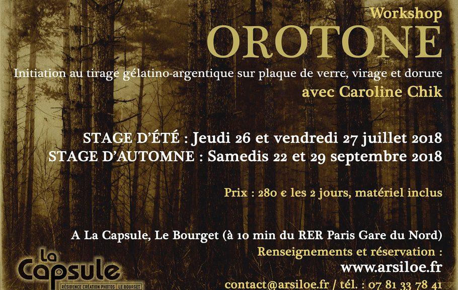 Stage orotone Caroline Chick